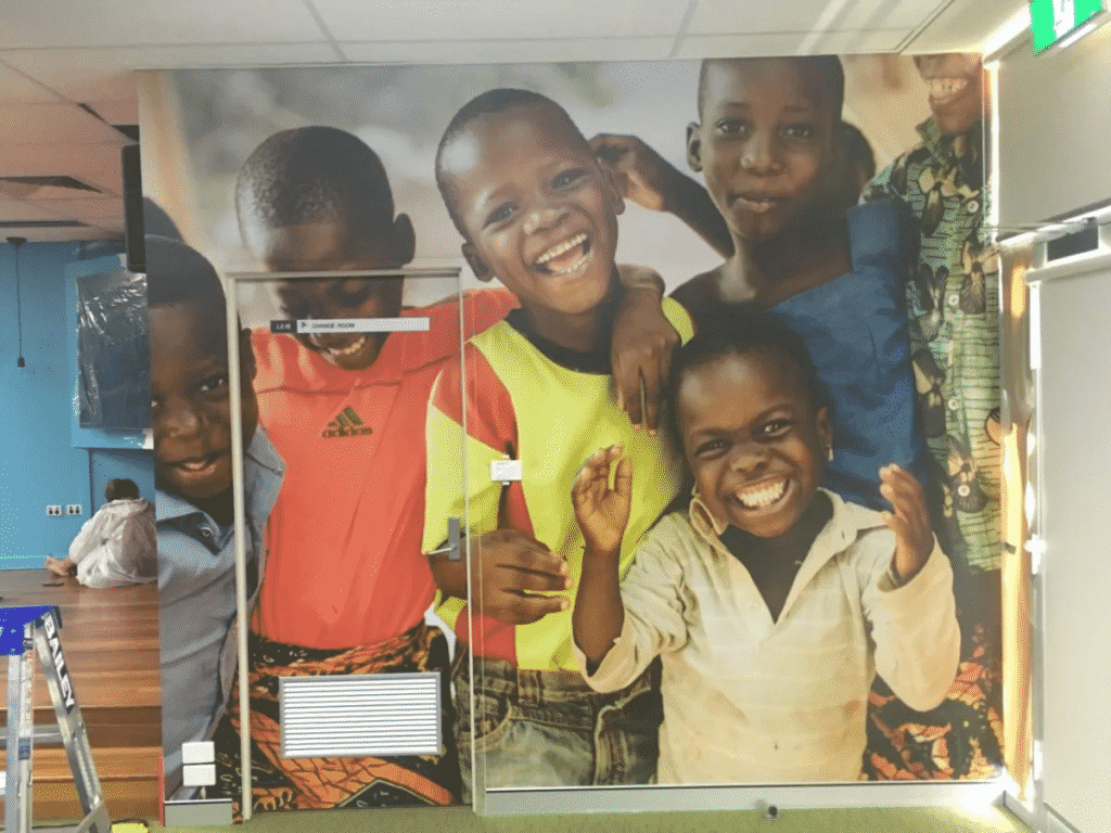 Compassion Australia - Wall Graphics Newcastle - Big Colour