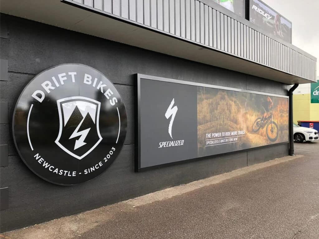 Drift Bikes - Big Colour - Signage & Vehicle Graphic Design Newcastle