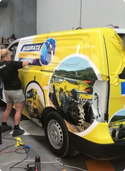 Vinyl Wrapping - Big Colour - Signage & Vehicle Graphic Design Newcastle