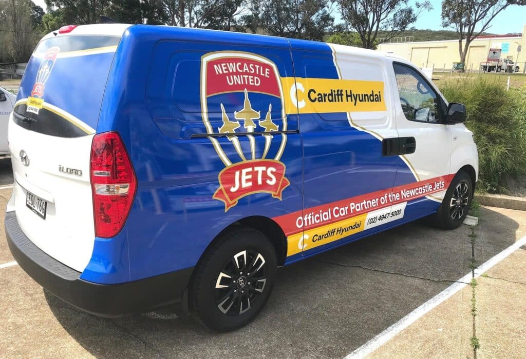 Jets van vinyl wrap - Car Wrapping Services Newcastle - Big Colour