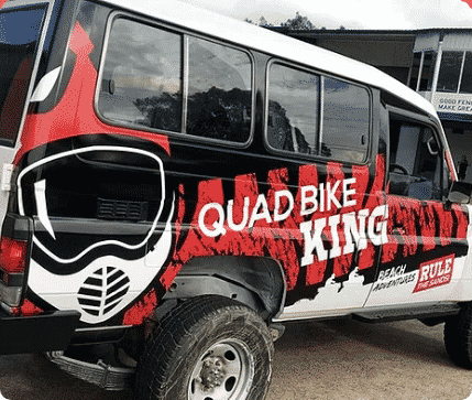 Quadbike King - Car Wrapping Services Newcastle - Big Colour