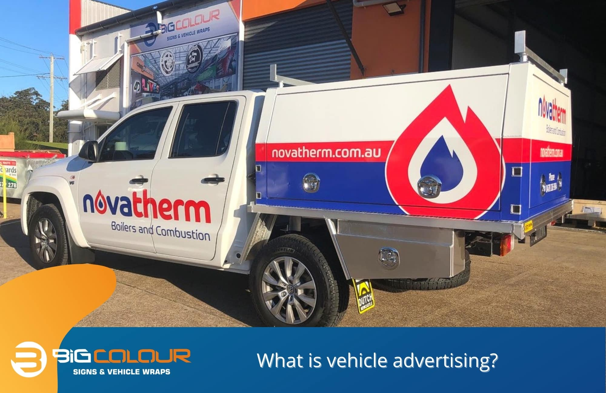What is vehicle advertising